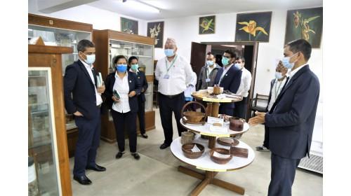 Director General of DPR Dr. Buddi Sagar Poudel at Museum of NHPL